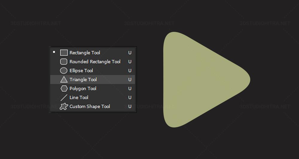 ابزار رسم مثلث از ویژگی های جدید فتوشاپ 2021