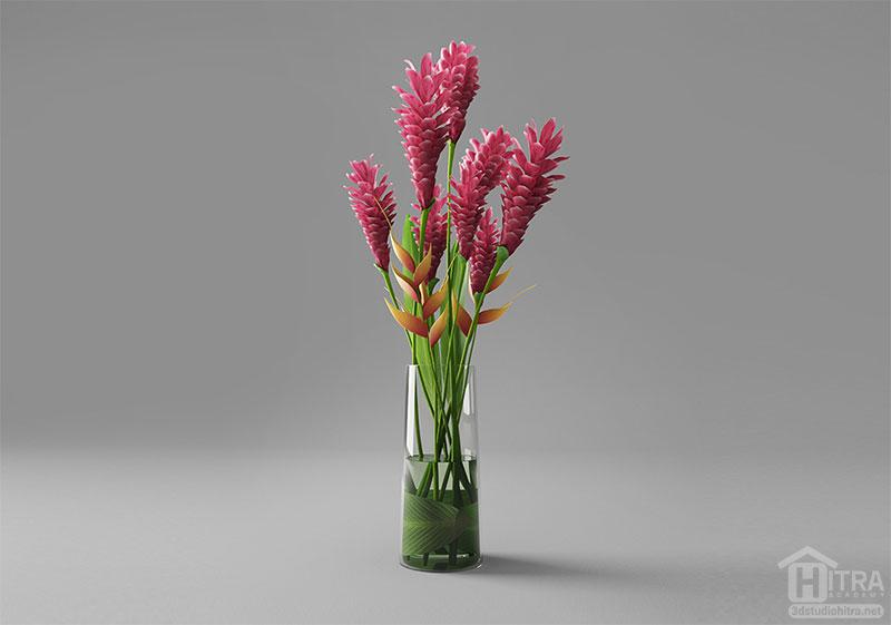 آبجکت گل زنجبیل