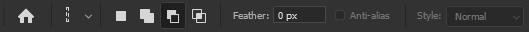 حذف یک یا چند محدوده انتخابی با single column marquee tool