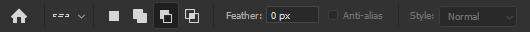 حذف بخشی از محدود انتخاب شده با single row marquee tool