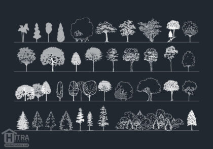 دانلود آبجکت درخت اتوکد