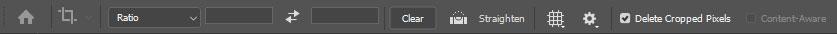 نوار تنظیمات ابزار Crop