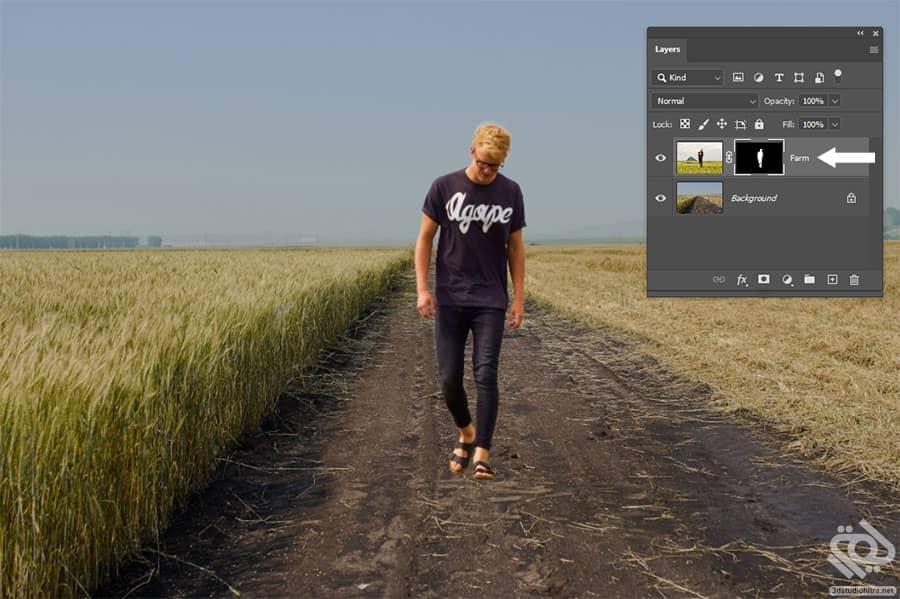 مونتاژ تصویر با آموزش ماسک در فتوشاپ