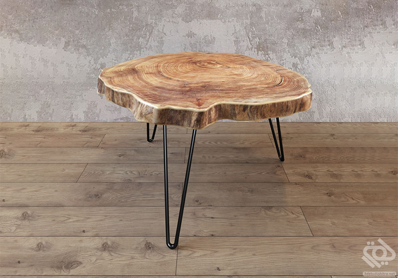 میز قهوه خوری چوبی