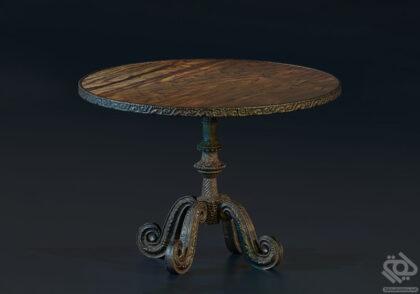 دانلود آبجکت میز چوبی