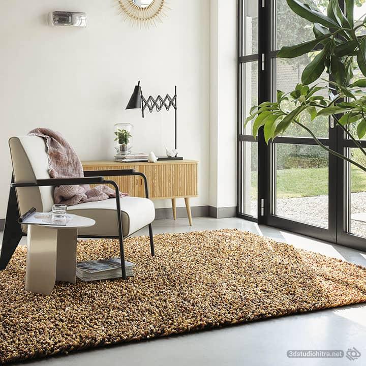 مدلسازی فرش در تری دی مکس